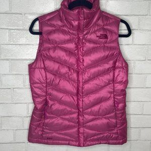 The North Face Quilted Hot Pink Puffer Vest